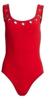 Karla Colletto Swim Viviana Grommet Swimsuit