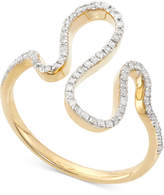 Wrapped in Loveandtrade; Diamond Squiggle Ring (1/5 ct. t.w.) in 10K Gold, Created for Macy's