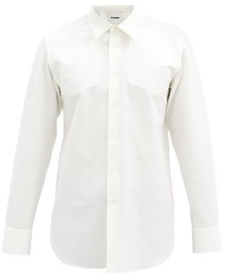 Jil Sander Embroidered-collar Cotton-blend Shirt - White
