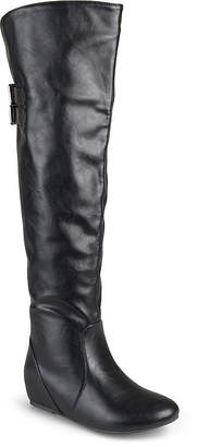 Journee Collection Womens Angel Wide Calf Over-the-Knee Riding Boots