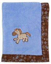 Trend Lab Cowboy Baby Framed Receiving Blanket, Blue