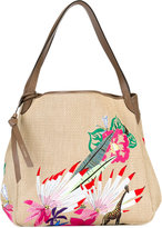 Etro woven embroidered tote - women - Cotton/Viscose/Polyester/Calf Leather - One Size