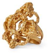 Ralph Lauren Interwoven Brass Ring Gold 7