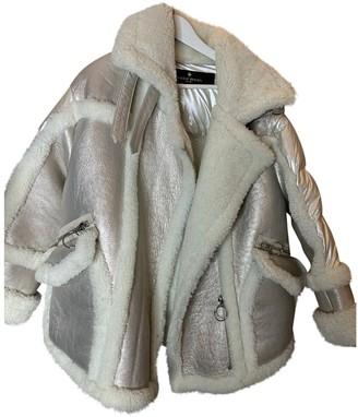 Nicole Benisti Silver Fur Coat for Women