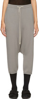 Rick Owens Grey Cropped Drawstring Lounge Pants