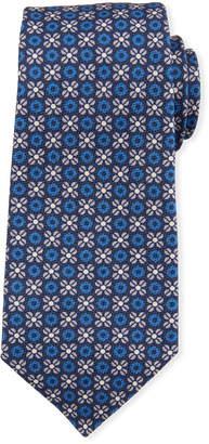 Kiton Flower Circle Silk Tie