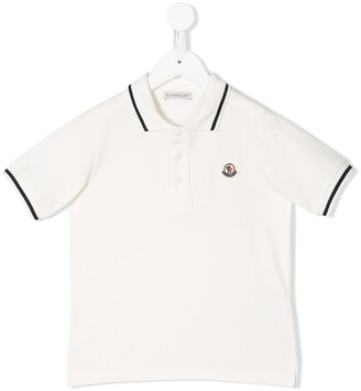 Moncler Enfant Logo Embroidered Polo Shirt
