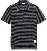 Thom Browne - Striped Cotton-bouclé Polo Shirt