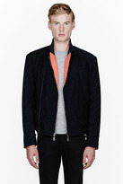 McQ by Alexander McQueen Navy wool reversible jacket