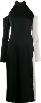 Ssheena open shoulder midi dress