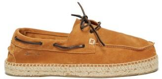 Manebi Hamptons Suede Espadrille Deck Shoes - Mens - Brown