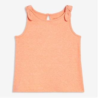 Joe Fresh Baby Girls' Knot Strap Tank, Light Orange (Size 6-12)