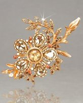 """Jay Strongwater Large Flower Brooch """" Kima """""""