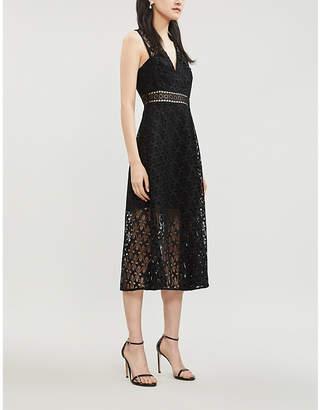 Sandro Floral guipure-lace dress