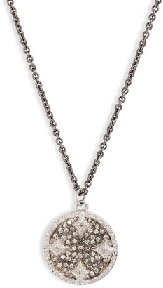 Armenta New World Champagne Diamond Pave Pendant Necklace