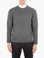 Marni Grey Boiled Cashmere-blend Sweater