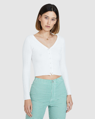 Subtitled Alexa Button Front Knit Top