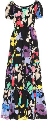 Caroline Constas Bardot floral poplin maxi dress
