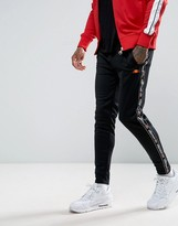 Ellesse Skinny Joggers With Logo Taping