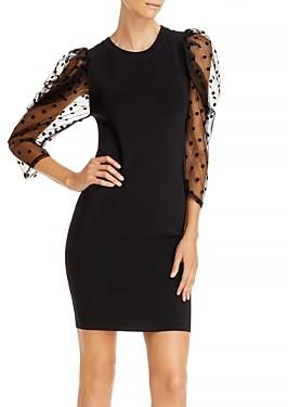 Lucy Paris Sheer Sleeve Mini Dress
