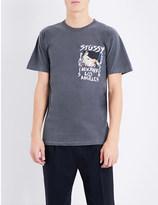 Stussy Gallery-print cotton-jersey t-shirt