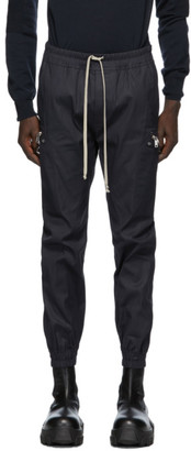 Rick Owens Navy Performa Cargo Jog Trousers