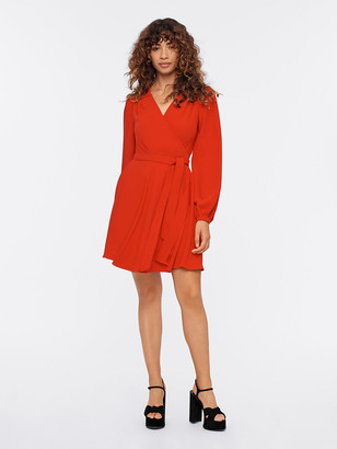 Diane von Furstenberg Londyn Crepe Mini Wrap Dress