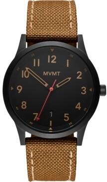 MVMT Men's Field Tan Nylon Strap Watch 41mm