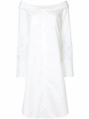 Monographie off-shoulder shirt dress