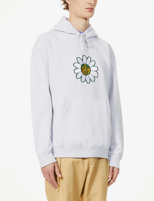 Obey Daisy logo-embroidered cotton-blend hoody