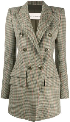 Alexandre Vauthier Houndstooth Double-Breasted Jacket
