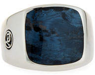 David Yurman Men's Exotic Stone Signet Ring w/ Pietersite