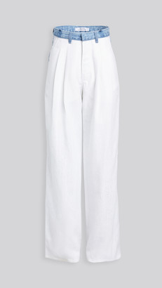 Ksenia Schnaider Wide Jeans with Linen Front Pants