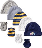 Gerber Baby-Boys 5 Pack Caps (0-6 months) and 4 Pack Mitten (0-3 months) Bundle