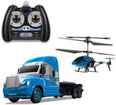World Tech Toys MegaHauler Helicopter & Remote Control Truck Set