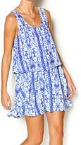 Honey Punch Blue Tribal Dress