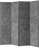 Eichholtz Duchamp Folding Screen Large - Grey Velvet