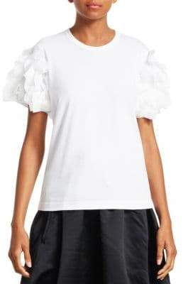 Comme des Garcons Ruffle-Sleeve Jersey Tee