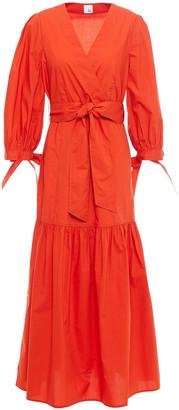Iris & Ink Alexis Wrap-effect Cotton-poplin Maxi Dress
