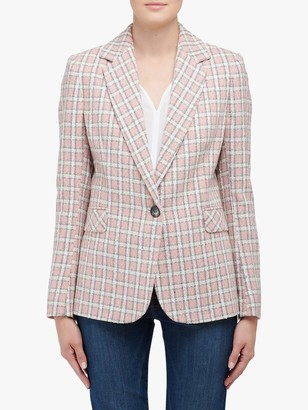 Helene For Denim Wardrobe Carinne Check Jacket, Pink/White
