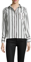 Lucca Couture Stripe Piped High Low Top