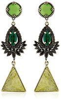 Iosselliani Anubian Brass, Agate & Crystal Earrings