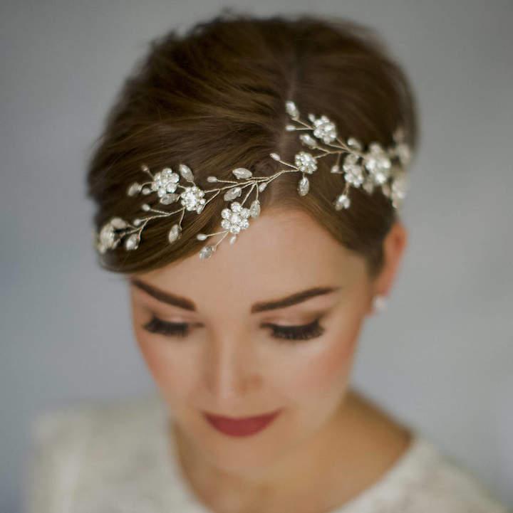 Carlisle Debbie Bohemian Bridal Crystal Wedding Hair Vine Sydney