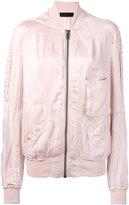 Haider Ackermann patch pocket bomber jacket