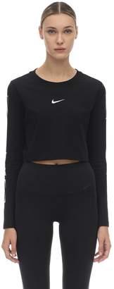 Nike NSW COTTON LONG SLEEVE CROP LOGO T-SHIRT