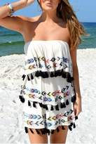 Judith March Tribal Tassel Dress