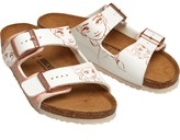 Birkenstock Girls Arizona Birko-Flor Sandals Frozen Elsa Rose White