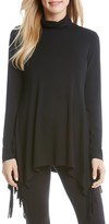 Karen Kane Asymmetric Fringed Turtleneck