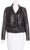 Diane von Furstenberg Meringue Leather Jacket