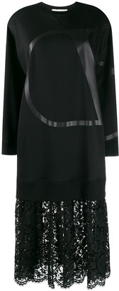 Valentino Vlogo jersey dress